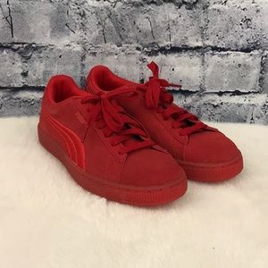 Puma Monochrome Red Suede Sneakers 08720